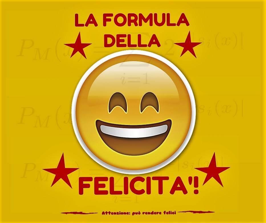 la formula della felicita