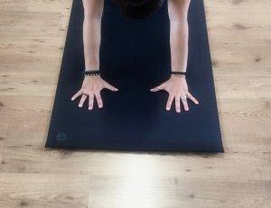 Posizione Mani Si MappaMundi Tutorial Yoga Preparazione per Adho Mukha Svanasana