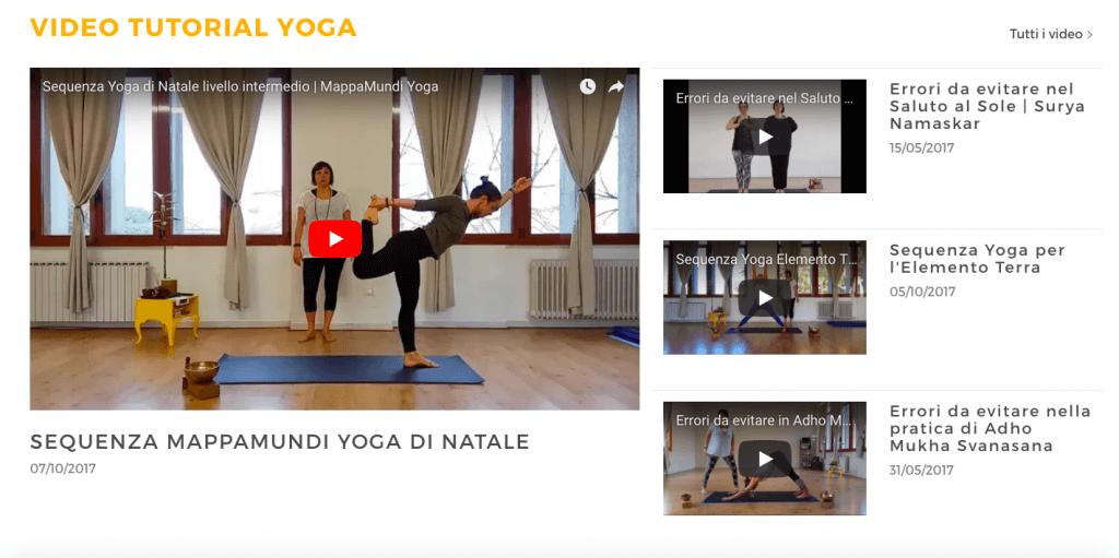 video tutorial yoga mappamundi padova