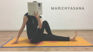 marichyasana yoga for readers